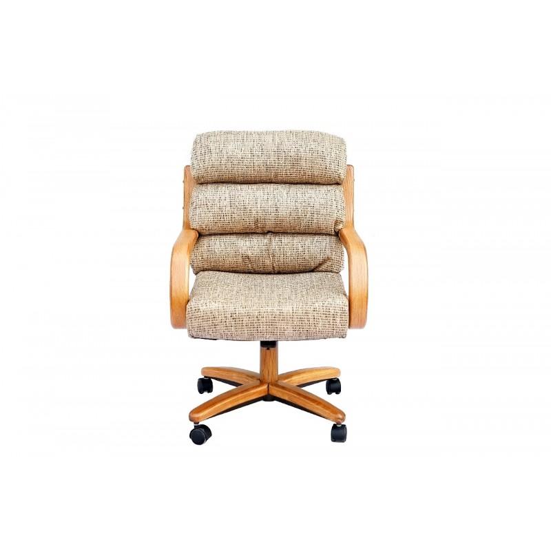 Chromcraft C137 936 Swivel Tilt Caster Arm Chair