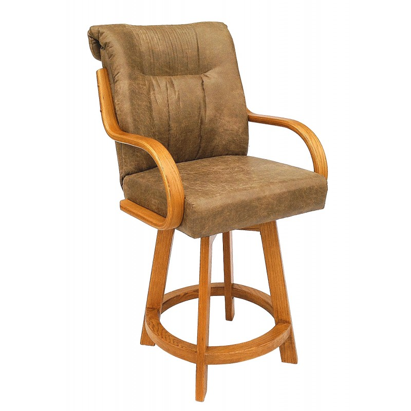 "Chromcraft Furniture C179-388 Swivel 30"" Bar Stool With"