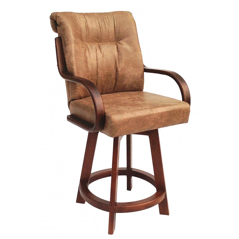 Chromcraft Furniture C179 384 Swivel 26 Wood Bar Stool Discount