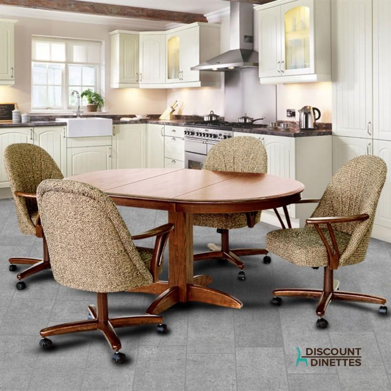 Chromcraft Furniture T250-607 And C127-936 5PC Dinette Set