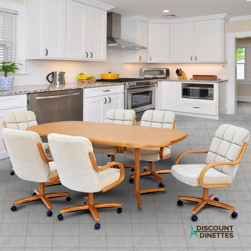 Discounted Dining Sets: Chromcraft Furniture T824-456 And C117-936 Caster Dining