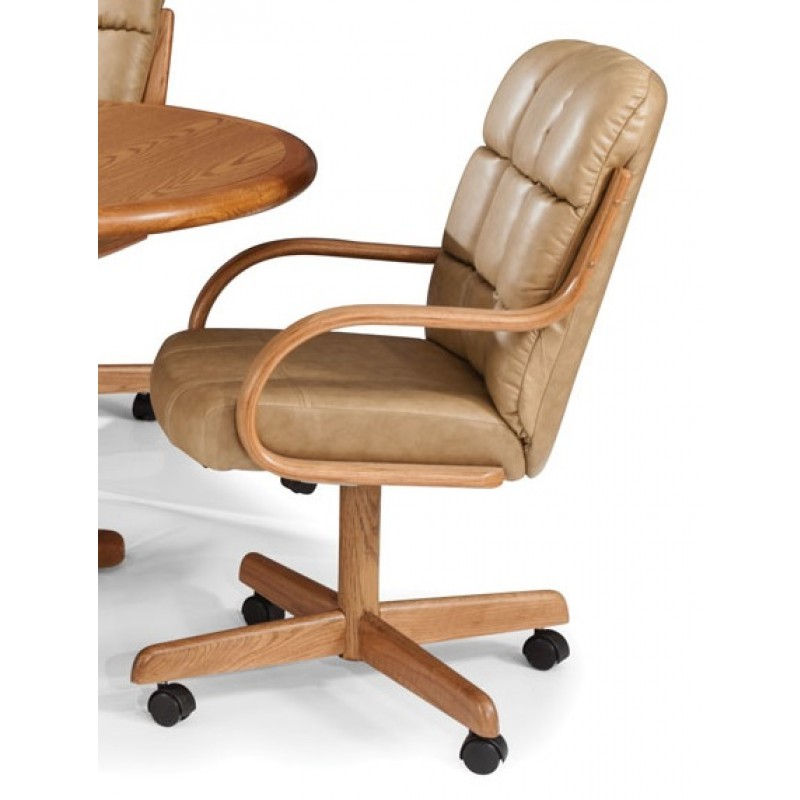 Douglas Casual Living Natasha Swivel Tilt Caster Chair Set Of 2