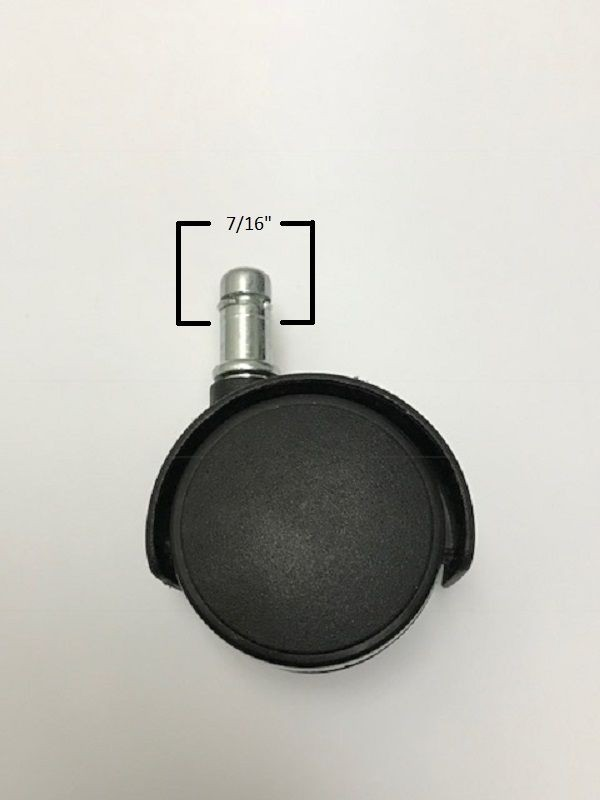 Black Chromcraft Caster Replacement Discount Dinettes