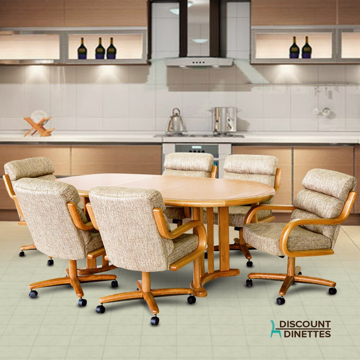 Dinette Sets Cheap: Chromcraft Furniture T817-77 And C137-936 Wood Dinette Set