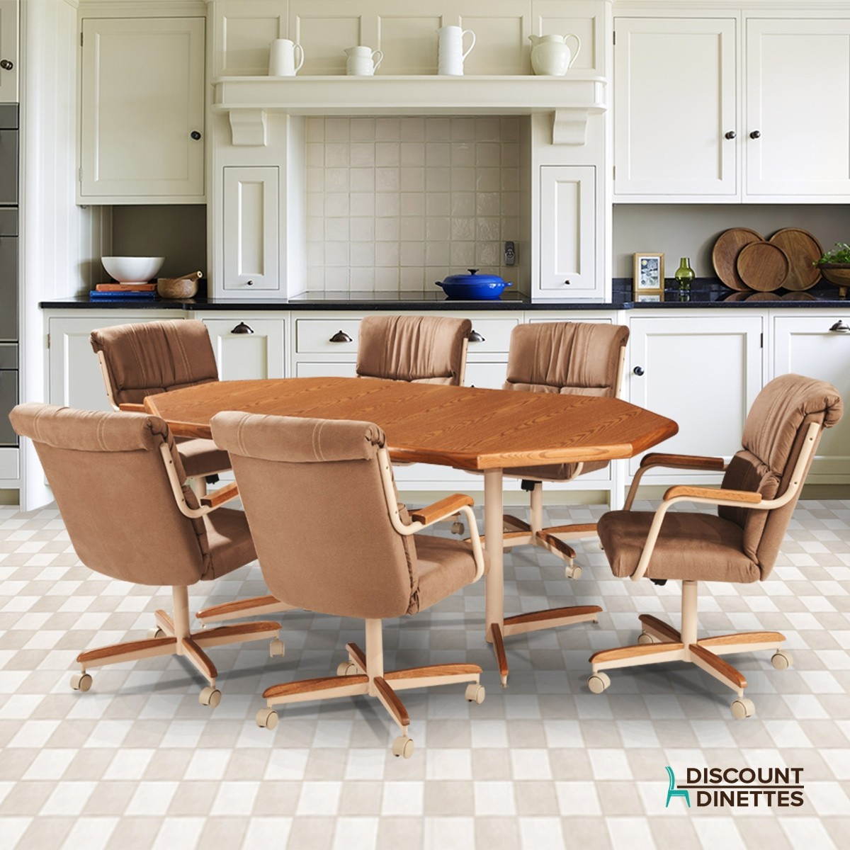 Casual Kitchen Chairs: Kitchen Dinettes With Casters