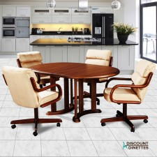 Douglas Casual Living Audrey 5 PC Swivel Caster Dinette Set