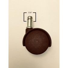 Chromcraft Casters Chocolate Brown Set of 16