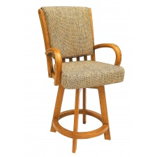 """Chromcraft Core C177-384 Swivel Counter Height 26"""" Bar Stool with Arms"""