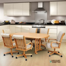 Chromcraft C177-946 and T817-77 7PC Dinette Set