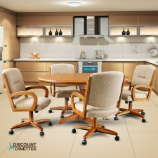 Chromcraft C176-946 and T4242-4230 Swivel Laminate Wood Dinette