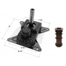 Chromcraft Swivel Tilt Mechanism with Plastic Insert Set of 4