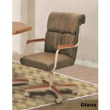 Douglas Casual Living Dawn/Diana Swivel Tilt Caster Chair Set of 2