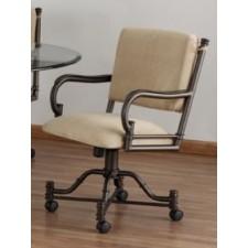 Tempo Like Bullseye Swivel Tilt Caster Burnet Arm Chair by Callee