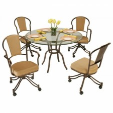 Tempo Like Chaucer Swivel Tilt Caster Charleston Dinette Set by Callee