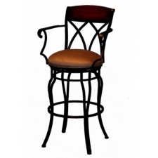 "Tempo Like Hartford Swivel 34"" Hayward Bar Stools with Arms by Callee"
