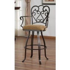 "Tempo Like Veronica 30"" Swivel Valencia Arm Bar Stool by Callee"