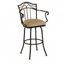 "Tempo Like Burlington 34"" Swivel Arm Berkeley Bar Stool by Callee"