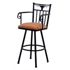 "Tempo Like Longhorn 26"" Swivel Bar Stool with Arms by Callee"