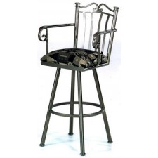 """Tempo Like Somerset 26"""" Swivel Sunset Bar Stool with Arms by Callee"""