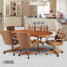 Douglas Casual Living Marcy 7 PC Swivel Tilt Caster Dining Set