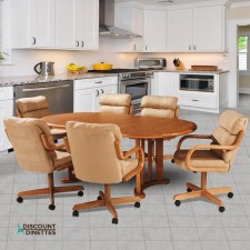 Douglas Casual Living Margo 7 PC Swivel Tilt Caster Dining Set