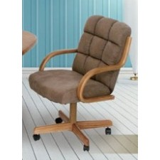 Douglas Casual Living Monroe Swivel Tilt Dinette Chair with Wheels Set of 2
