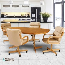 Douglas Casual Living Peggy 5 PC Swivel Tilt Dinette Set