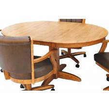 Chromcraft T250-607 Round Solid Wood Dinette Table