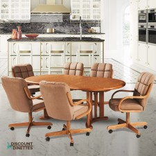 Douglas Casual Living Tiffany 7 PC Swivel Tilt Dining Set
