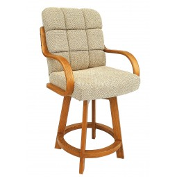 """Chromcraft Core C117-384 Swivel 26"""" Counter Height Bar Stool with Arms"""