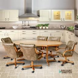 Chromcraft Furniture C179-946 and T154-466 7PC Dinette Set