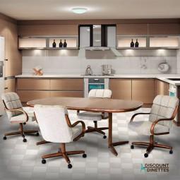 Chromcraft Furniture C117-946 and T824-466 5PC Dinette Set