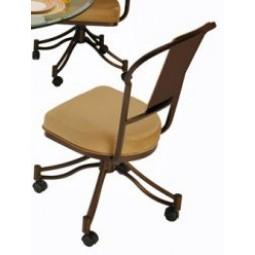Tempo Like Chaucer Swivel Tilt Caster Charleston Side Chair by Callee