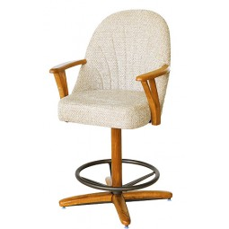 "Chromcraft C127-338 Swivel 30"" Bar Stool"