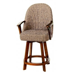 "Chromcraft Core C127-388 Swivel 30"" Bar Stool with Arms"