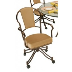 Tempo Like Chaucer Swivel Tilt Caster Charleston Dinette Chair by Callee