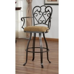 "Tempo Like Veronica 34"" Swivel Valencia Arm Bar Stool by Callee"