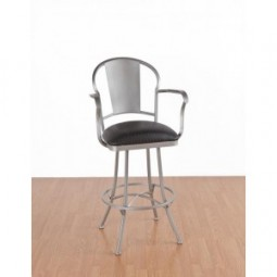"""Tempo Like Chaucer 26"""" Swivel Charleston Bar Stool by Callee"""