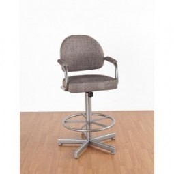"Tempo Like Dayton 34"" Swivel Daytona Bar Stool by Callee"