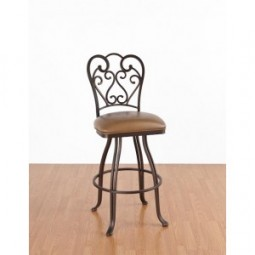 "Tempo Like Veronica 34"" Swivel Valencia Bar Stool by Callee"