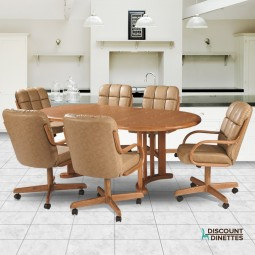 Douglas Casual Living Natasha 7 PC Swivel Tilt Caster Dining Set