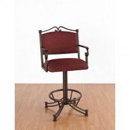 "Tempo Like Sonora 34"" Swivel Wide Body Seattle Bar Stool with Arms by Callee"