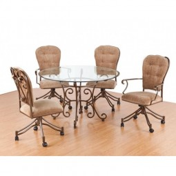 Tempo Like Veronica Swivel Tilt Caster Valencia Dinette Set by Callee